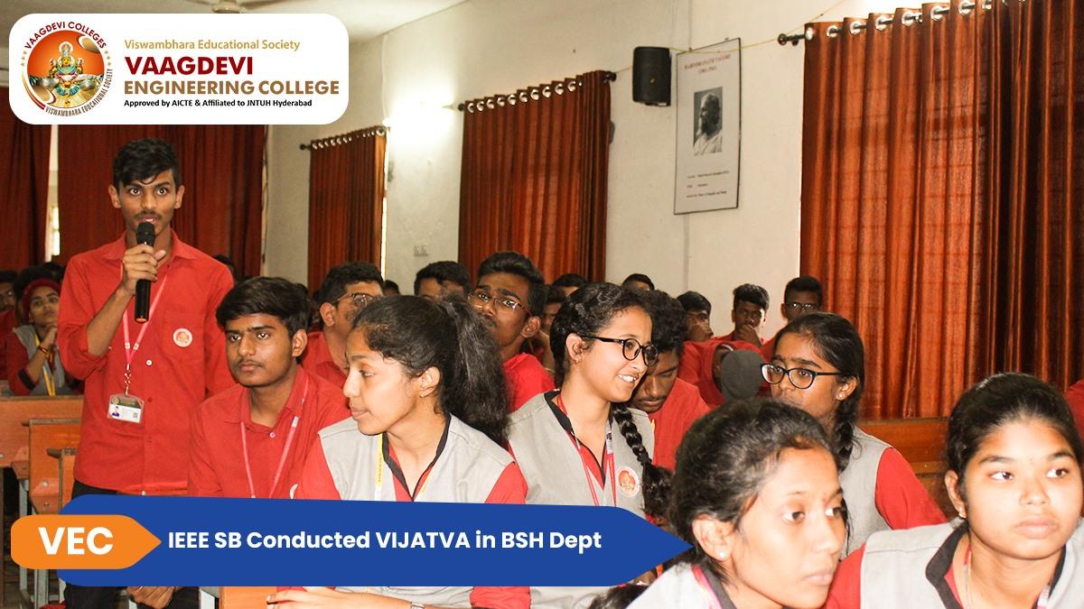 IEEE SB Conducted VIJATVA in BSH Dept