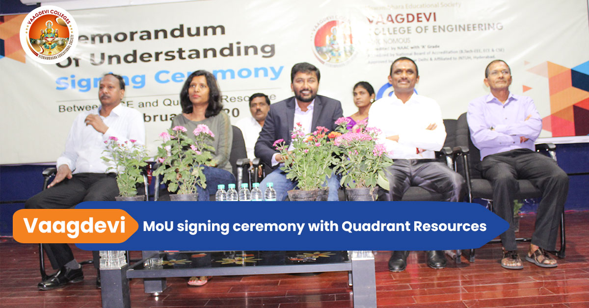 MoU signing ceremony.