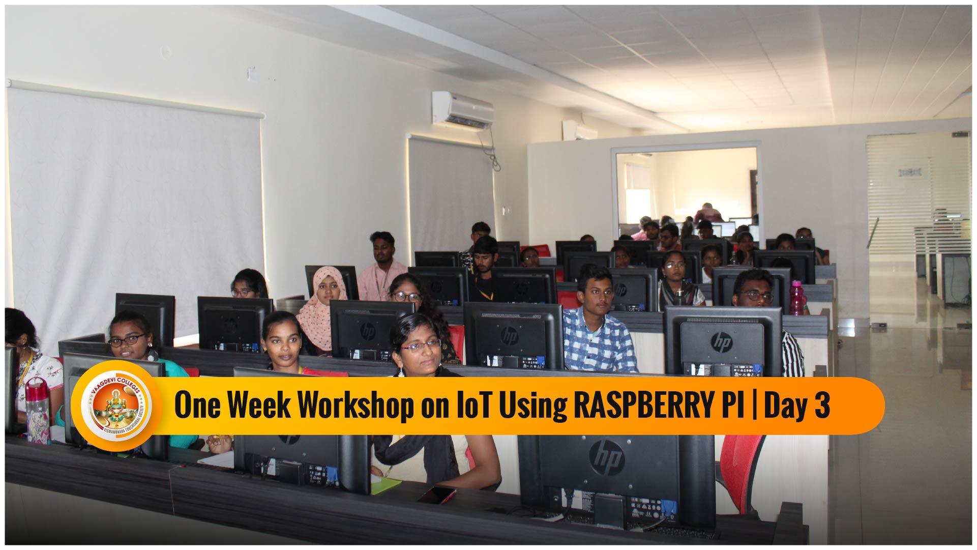 ONE WEEK WORKSHOP ON IOT USING RASPBERRY PI DAY 3