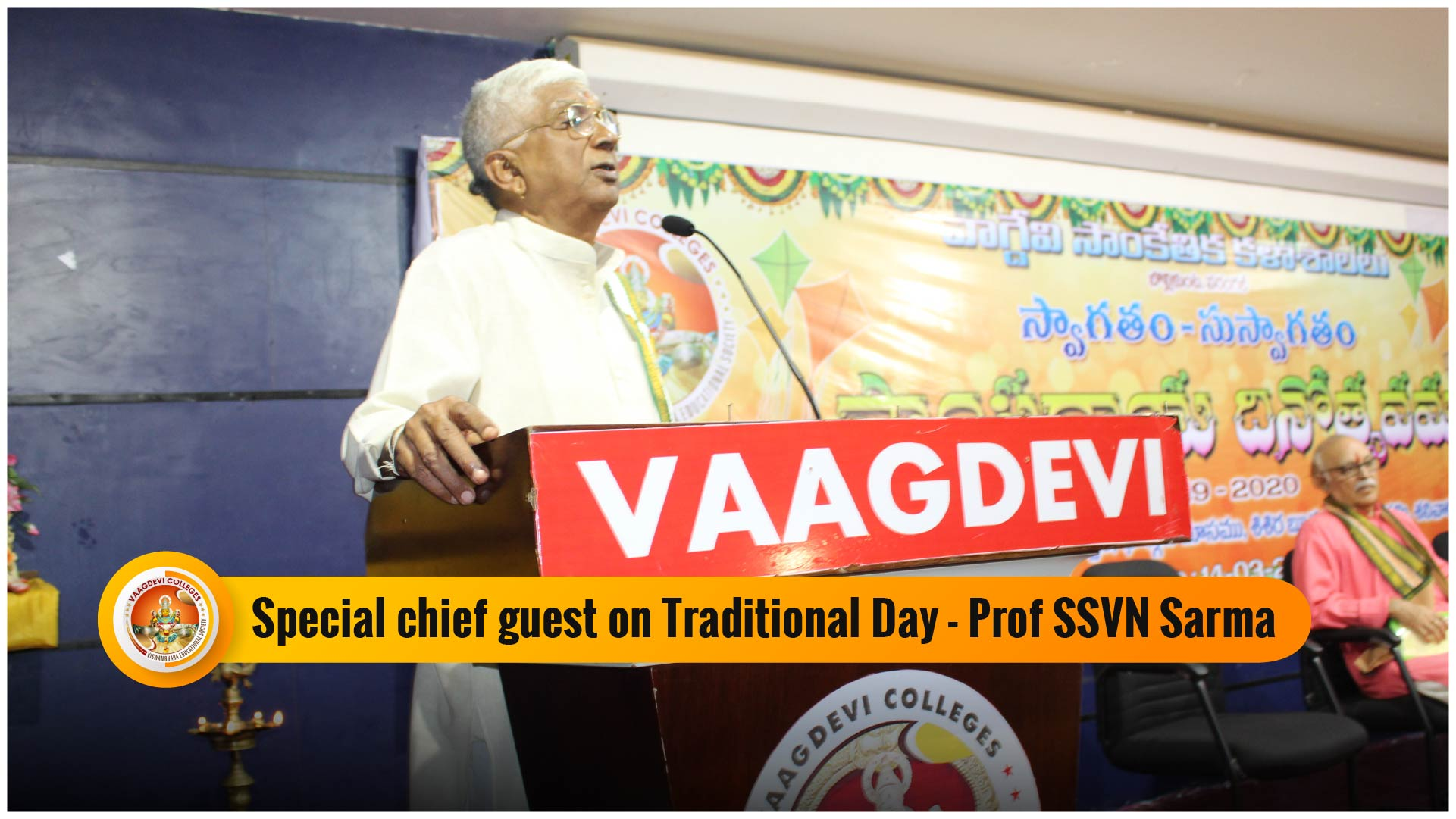Special Chief Guest on Traditional Day