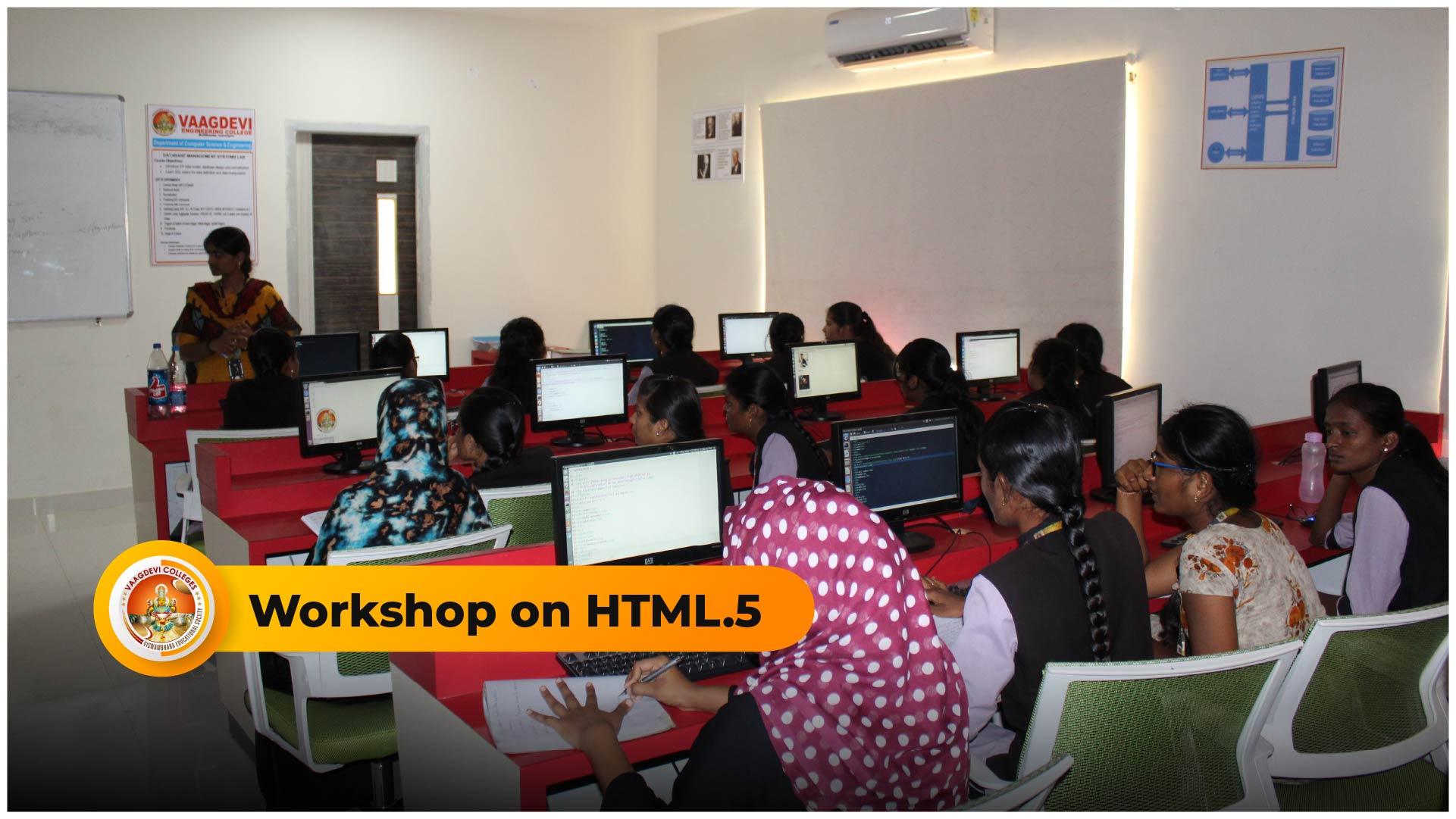 WORKSHOP ON HTML5