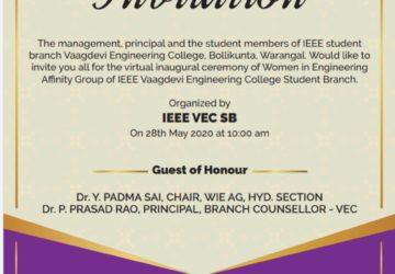 Best Engineering College of Telangana Vaagdevi Engineering College