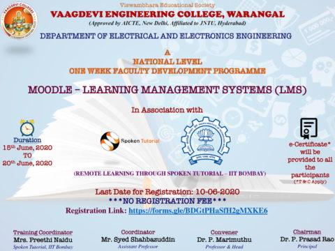 Program on MOODLE- LEARNING MANAGEMENT SYSTEM (LMS)